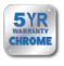5 year chrome warranty