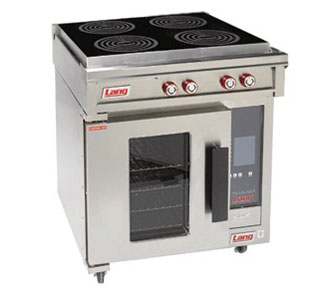 """Commercial 30"""" Induction Top Range, Convection Oven Base"""